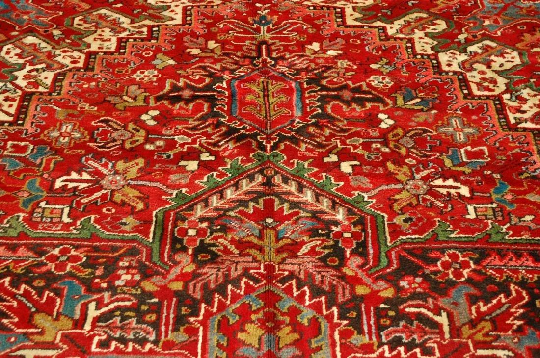 Persian Heriz Serapi Rug 11.8x13 - 9