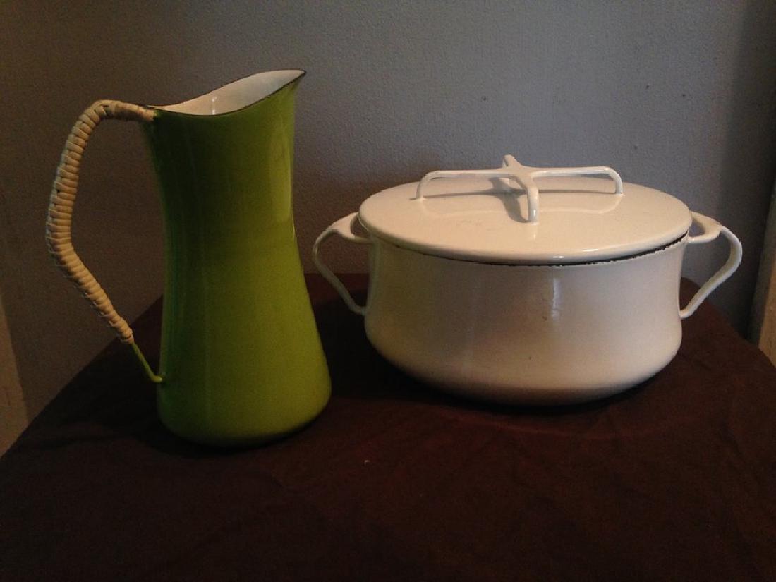 Midcentury Modern Dansk Pot and Pitcher