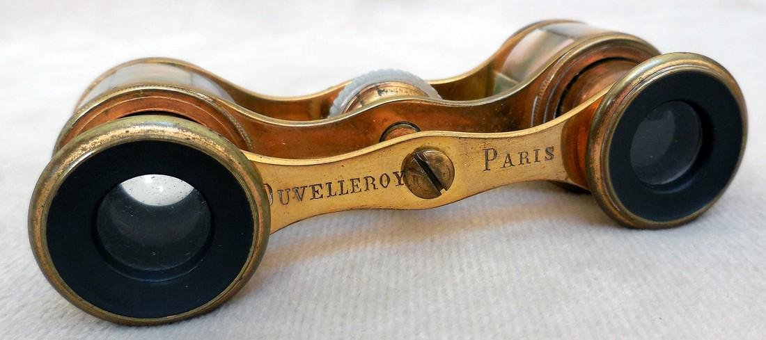 Vintage Paris  Mother of Pearl Opera Glasses - 4