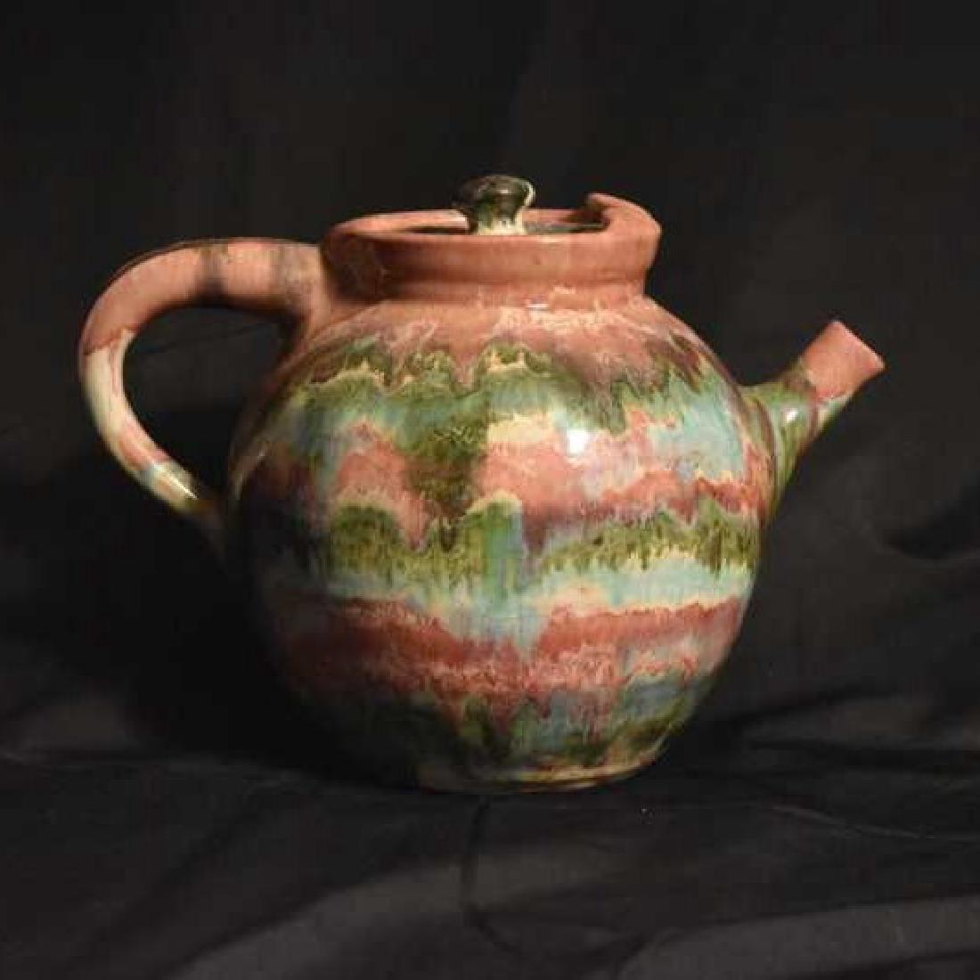 North Carolina Pottery Tea Pot, C.C. Cole Seagrove