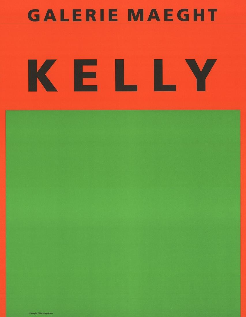 Ellsworth Kelly Lithograph Orange et Vert