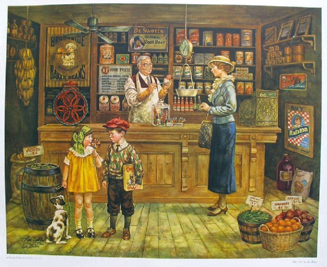 Lee Dubin Lithograph 1932 General Store