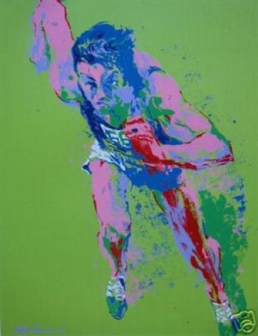 Leroy Neiman Serigraph Olympic Runner