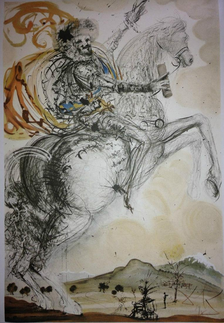Salvador Dali Limited Edition Lithograph Don Quixote