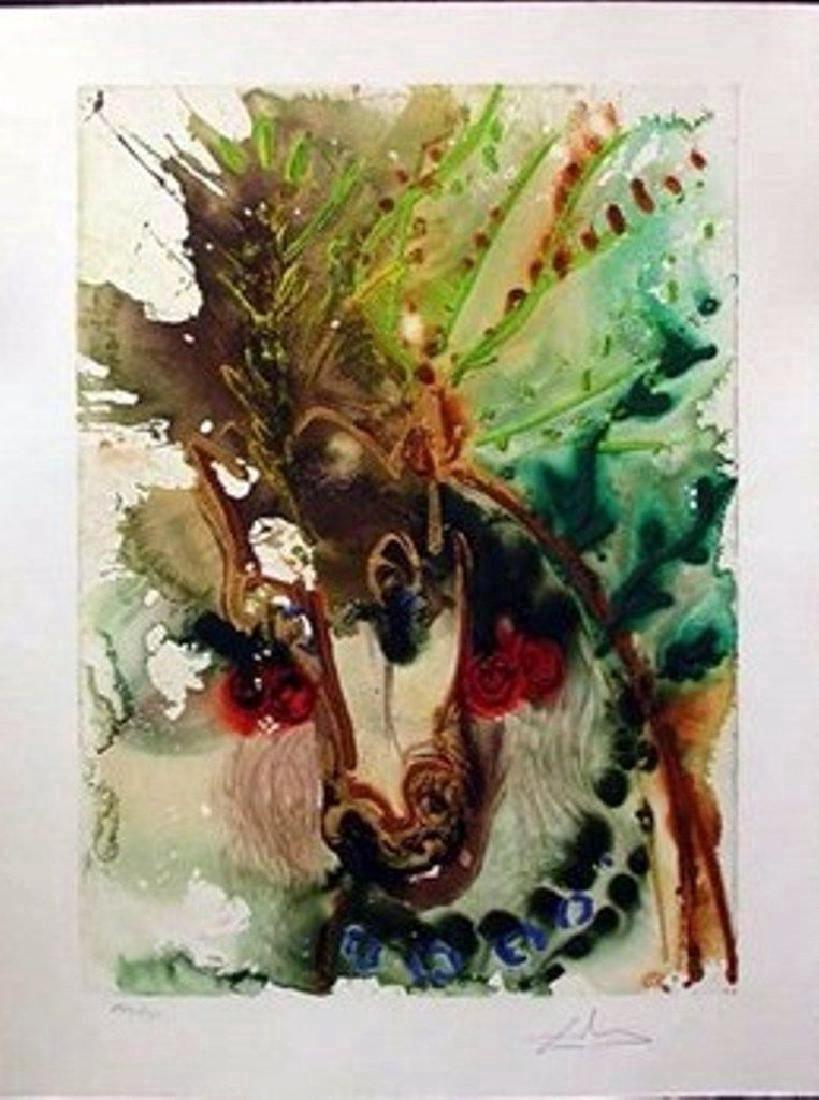 Salvador Dali Limited Edition Lithograph Horse