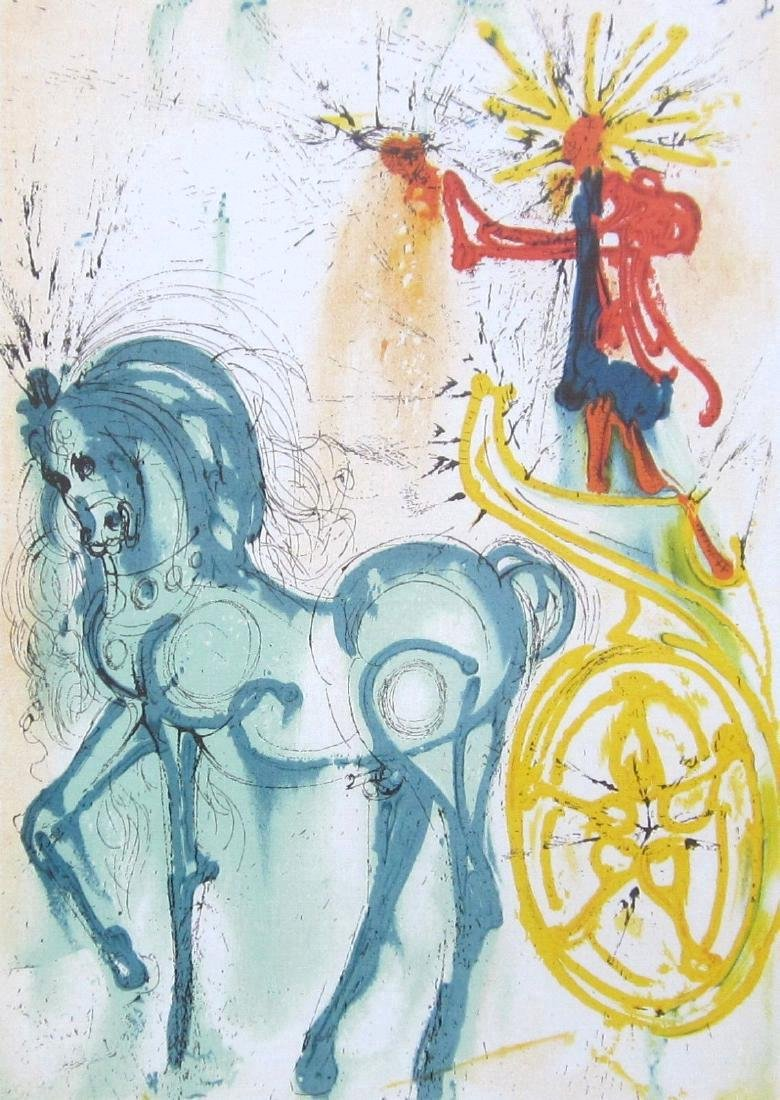 Salvador Dali Limited Edition Lithograph Le Cheval