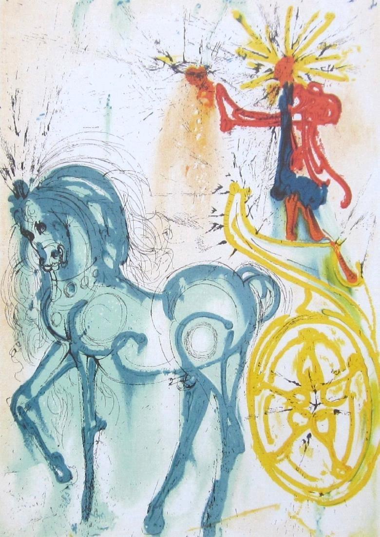 Salvador Dali Limited Edition Lithograph Le Cheval