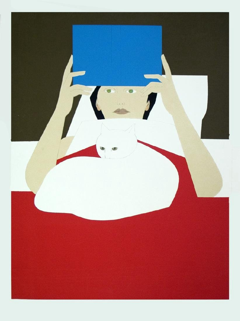 Will Barnet Signed Serigraph Woman Reading