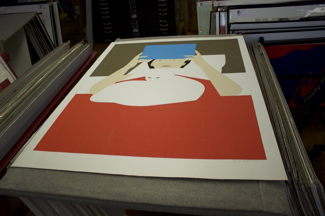 Will Barnet Signed Serigraph Woman Reading - 3