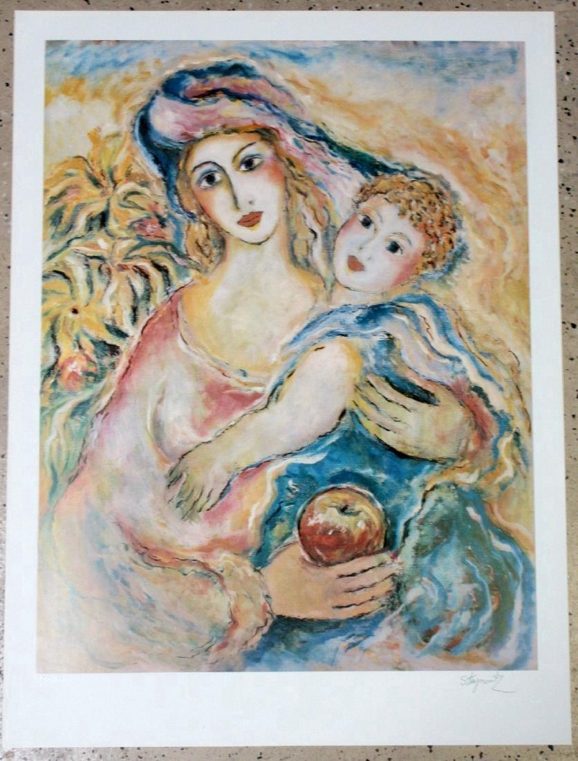 Zamy Steynovitz Limited Edition Lithograph Mother Love