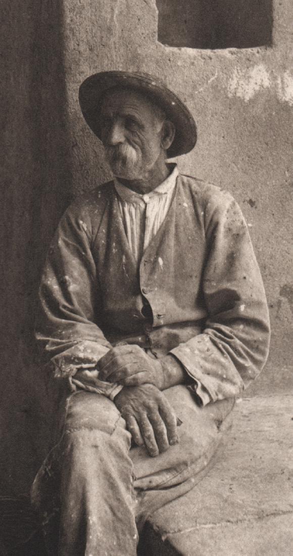 ALFRED STIEGLITZ - Italian Mason, Bellagio, 1887