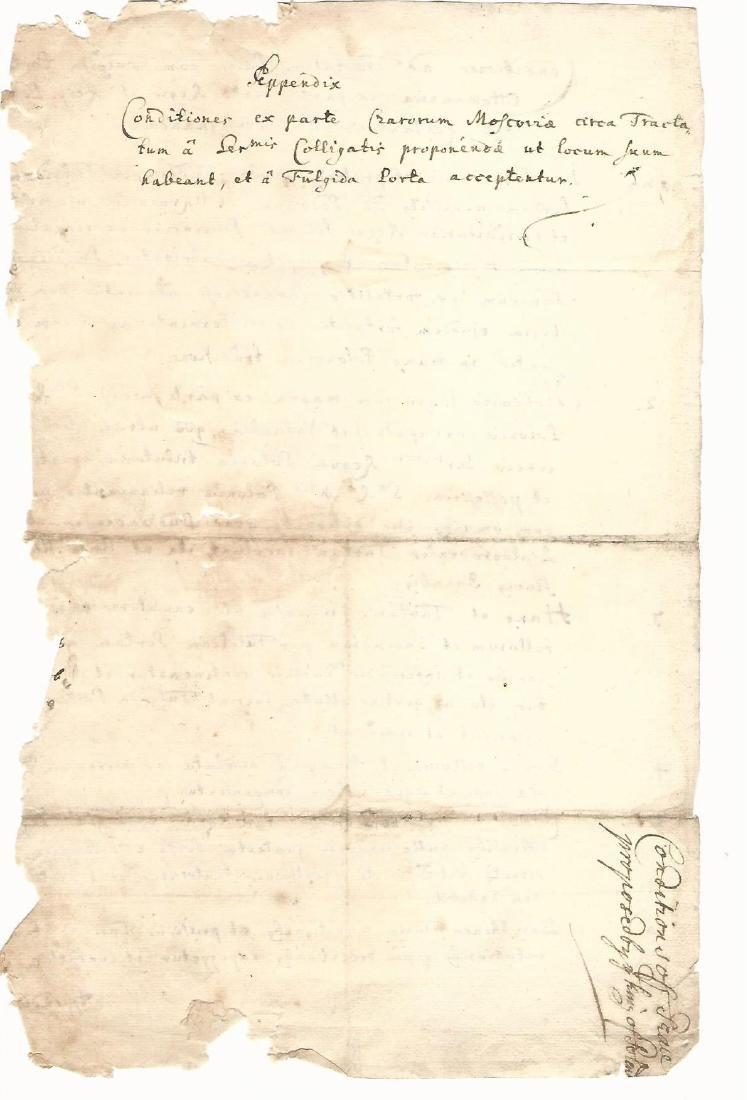1692 Treaty of Peace King of Poland Tartars Ukraine - 4