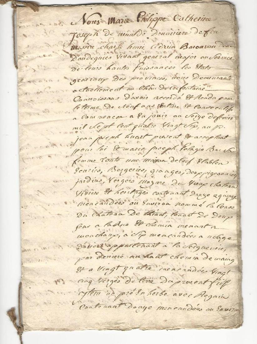 1787 Manuscript French Document Seventeen Pages