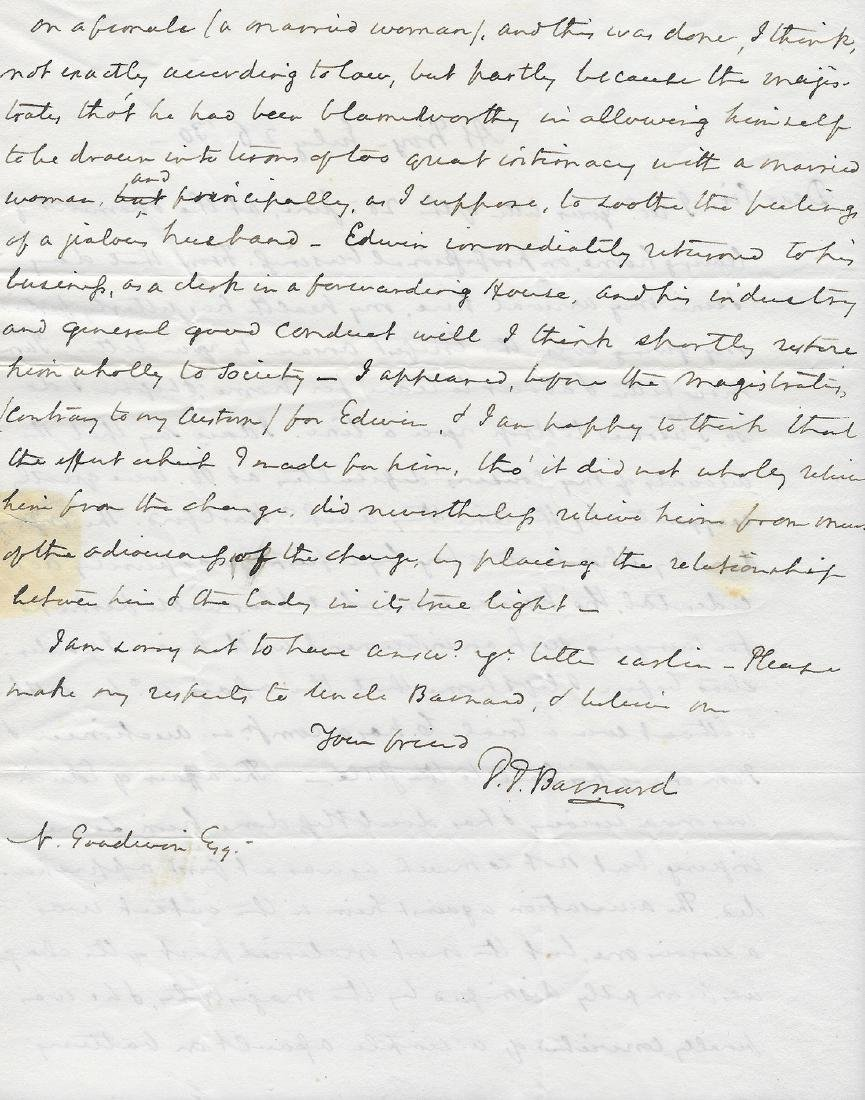 1830 Troy New York Letter Regarding Sexual Assault - 2