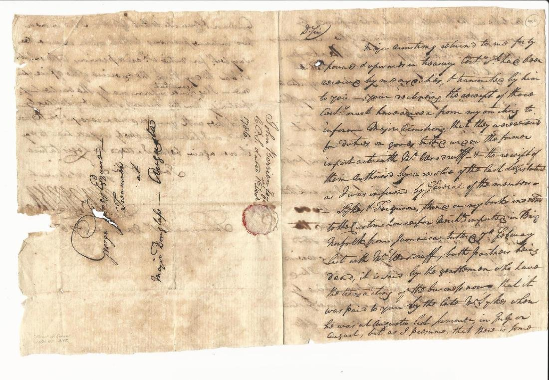 1786 Manuscript Letter George Berrien Savannah