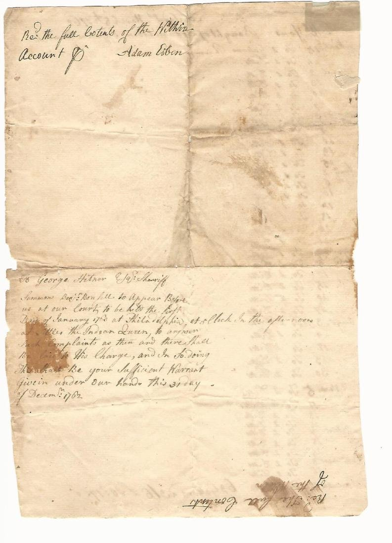 1762 Accounting for Rum Purchases - 2