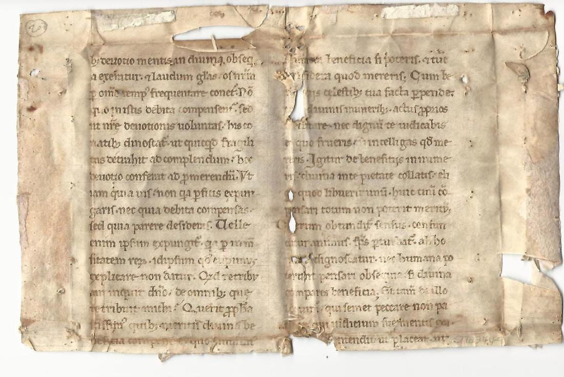 800+ Year Old Medieval Manuscript Gospel of Matthew - 2