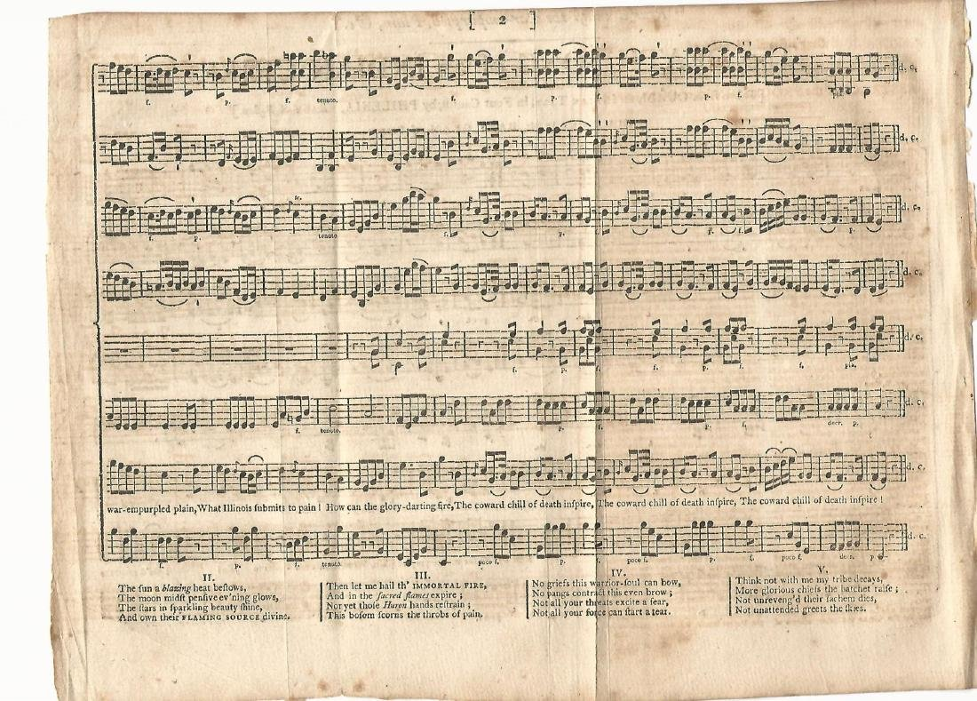 1791 Death Song Indian Chief Sarah Wentworth Morton - 2