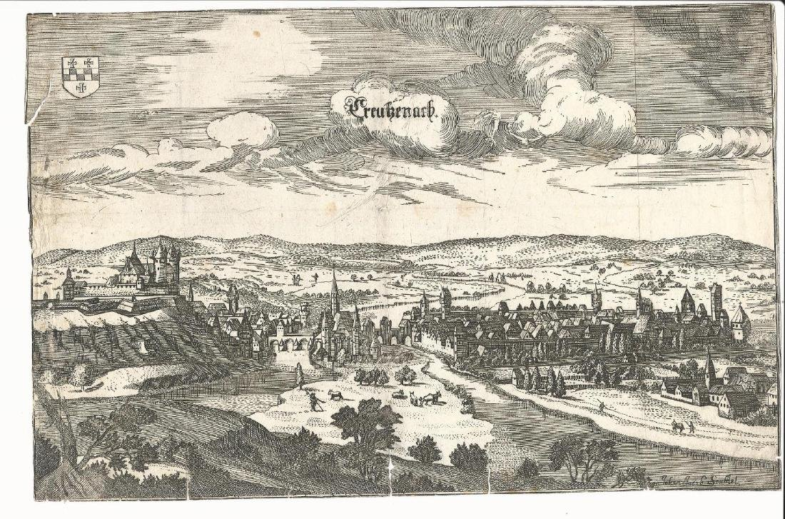 17th Century Engravings German Townviews
