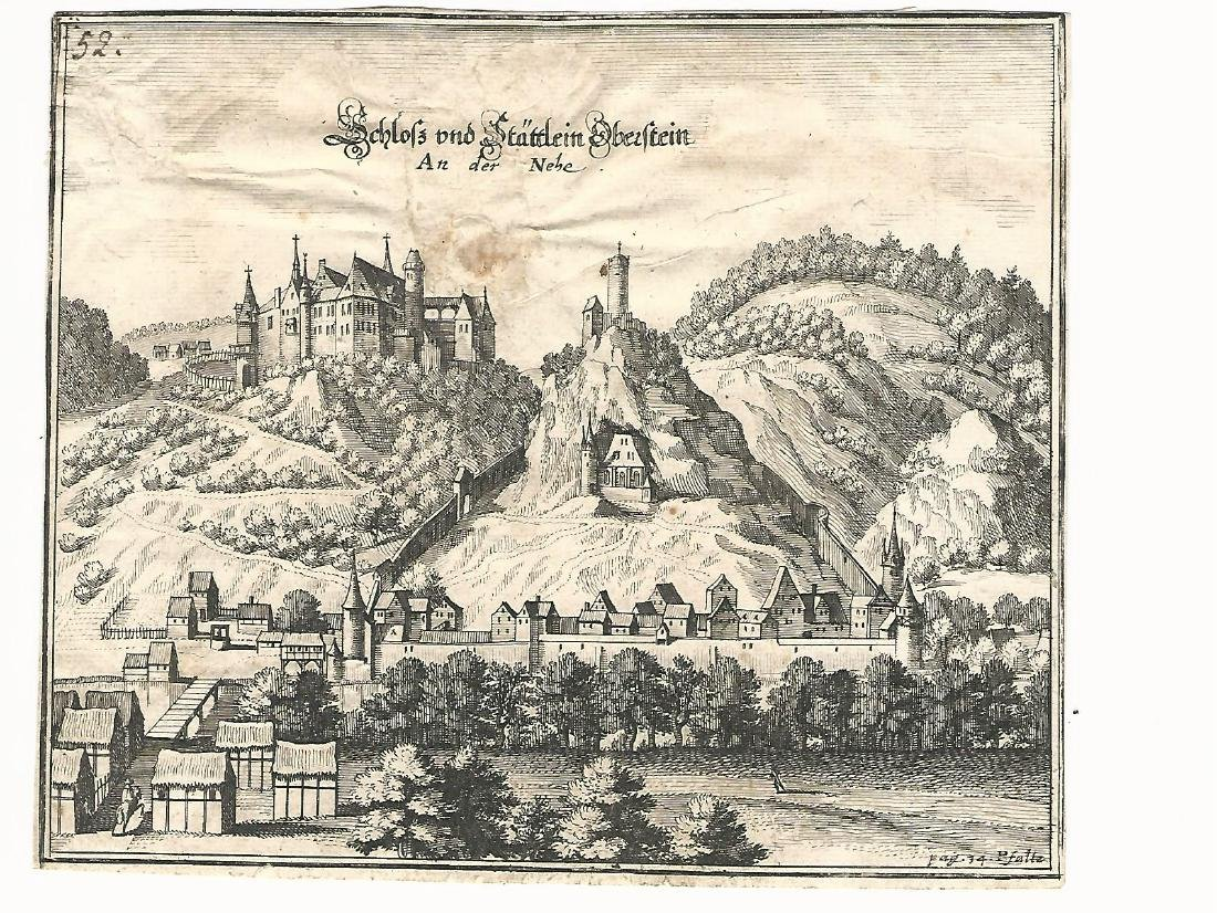 17th Century Engravings German Townviews - 2