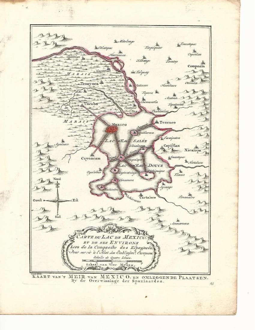 Carte du Lac De Mexico by Jacques Bellin, 1754