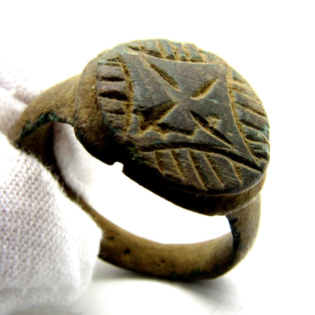 Crusaders Holy Land Ring with Star of Bethelehem