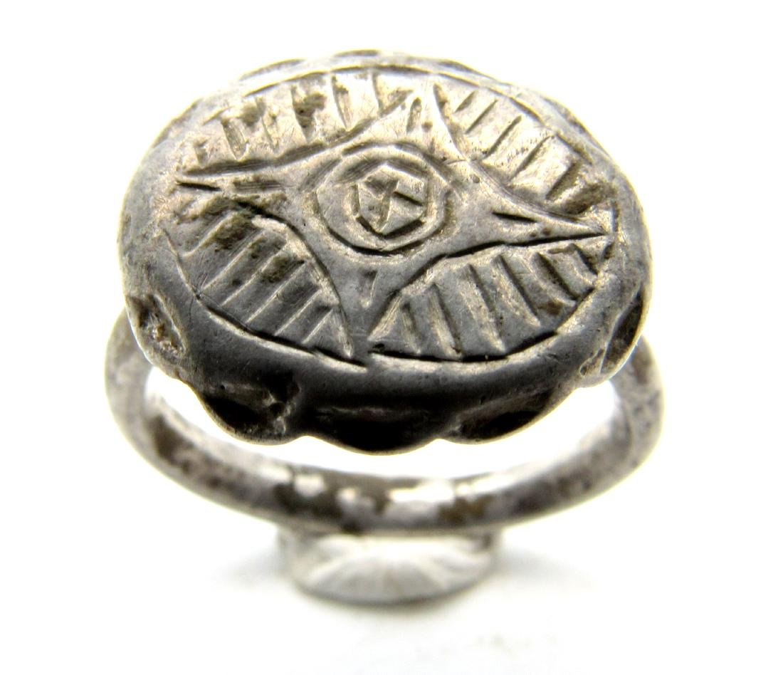 Crusaders Holy Land Silver Ring with Star of Bethelehem - 2