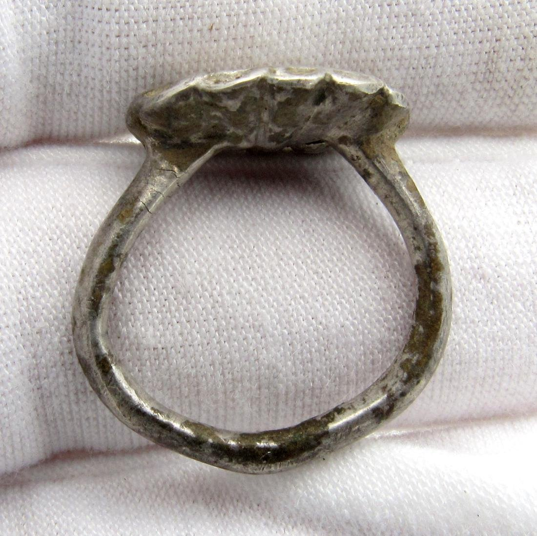 Crusaders Holy Land Silver Ring with Star of Bethelehem - 3
