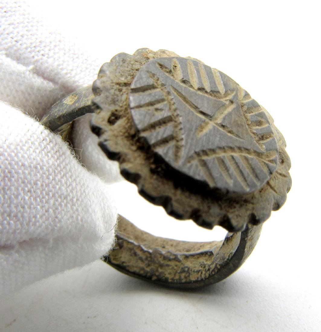 Crusaders Holy Land Ring with Star of Bethelehem - 3