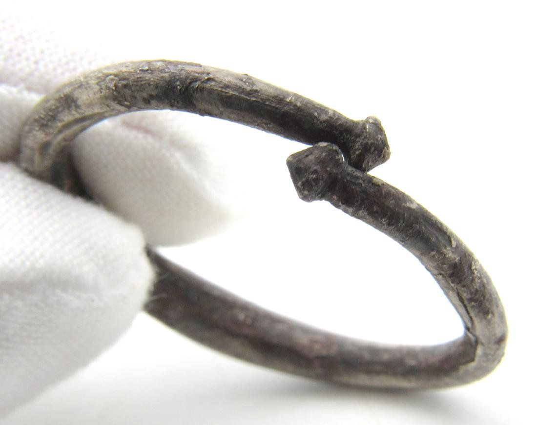 Viking Silver Hair / Beard Ring with Pointed Terminals - 3