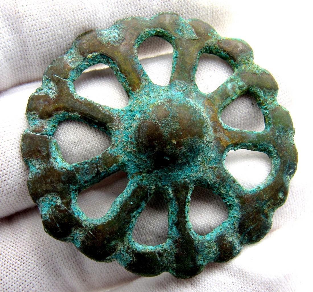 Ancient Roman Wheel of Fortune Amulet