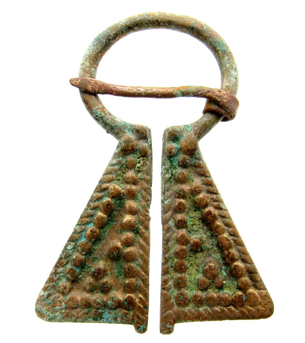 Viking Penannular Omega Brooch with Decoration
