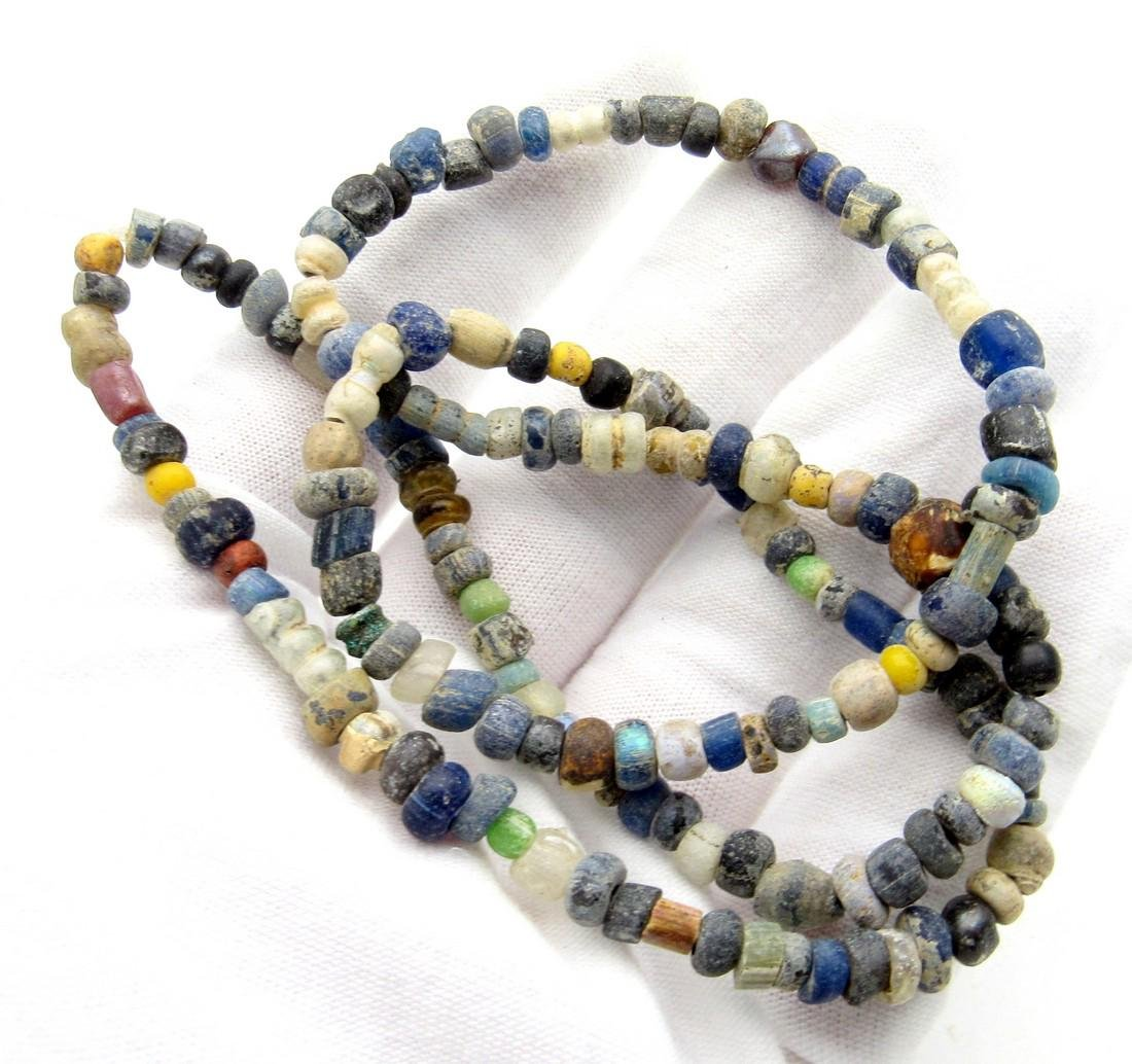 Viking Period Glass Beaded Wearable Necklace - 4