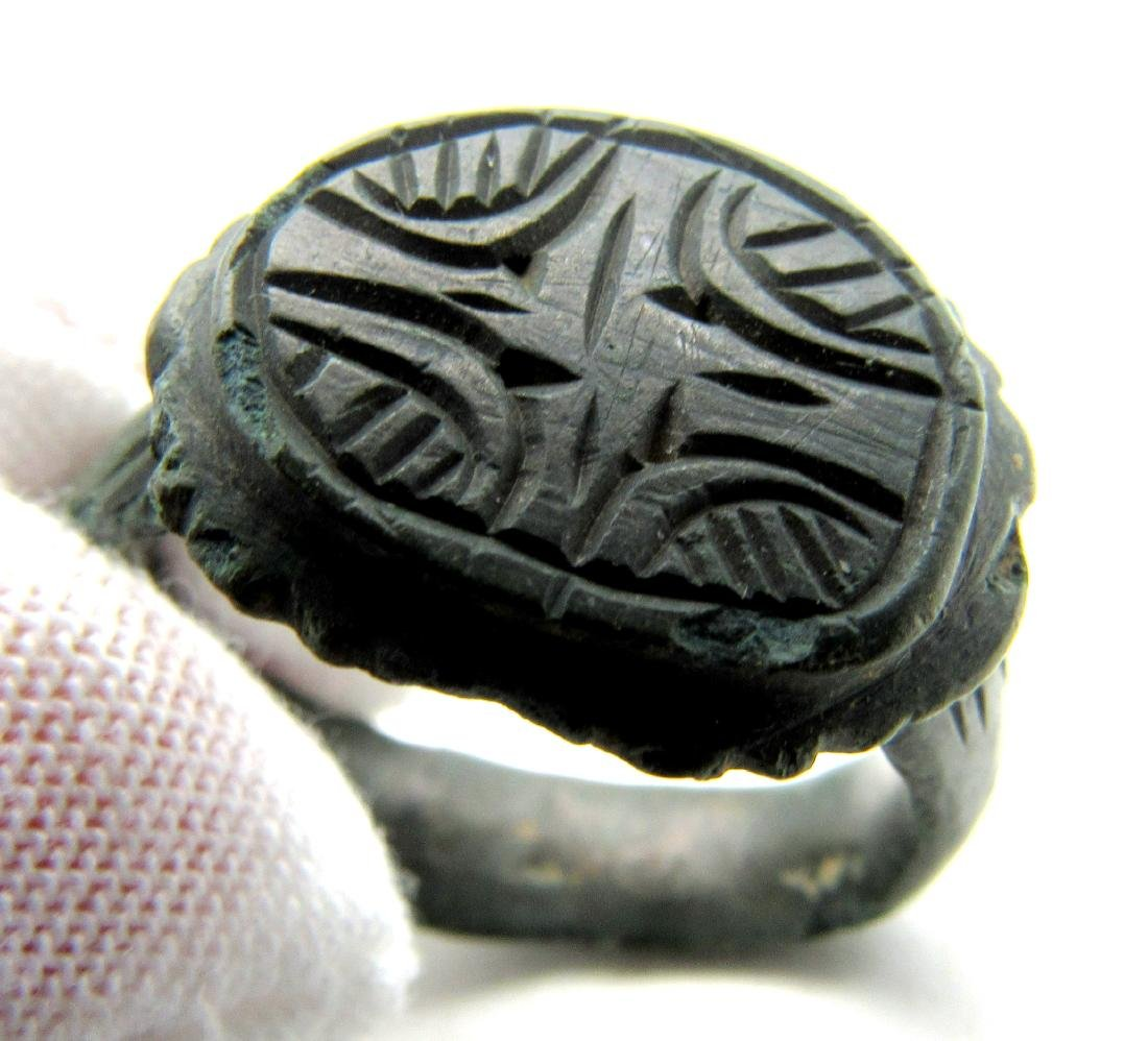 CRUSADERS RING WITH STAR OF BETHLEHEM