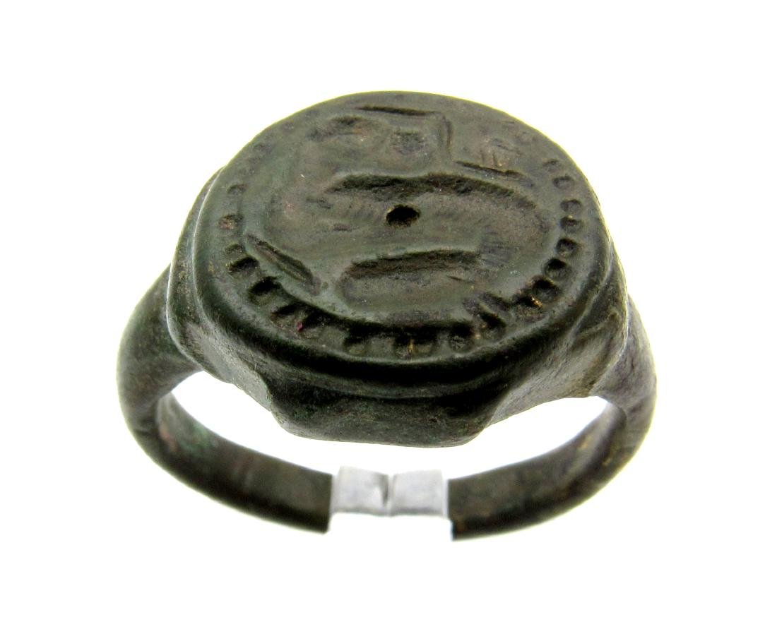 Celtic Zoomorphic Seal Ring - 2