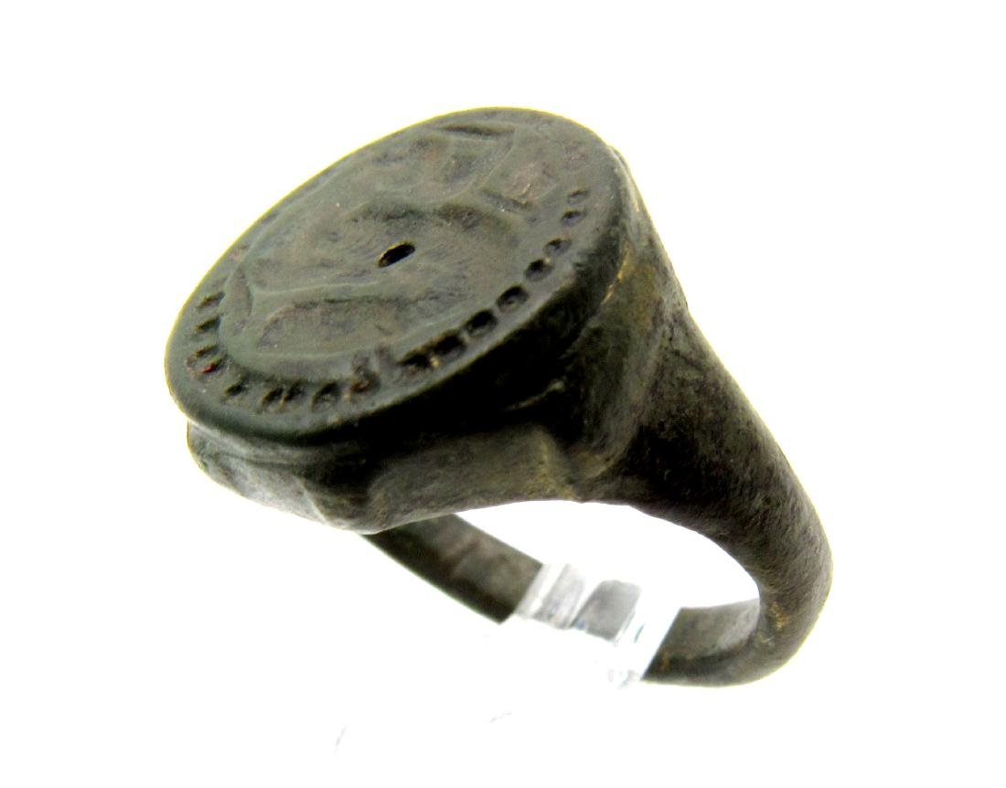 Celtic Zoomorphic Seal Ring - 3