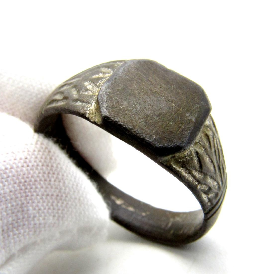 DECORATED MEDIEVAL WEDDING RING - 3
