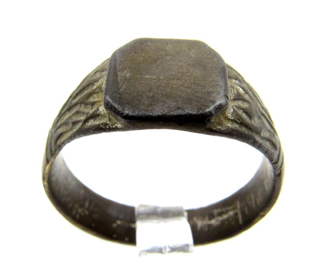 DECORATED MEDIEVAL WEDDING RING - 4