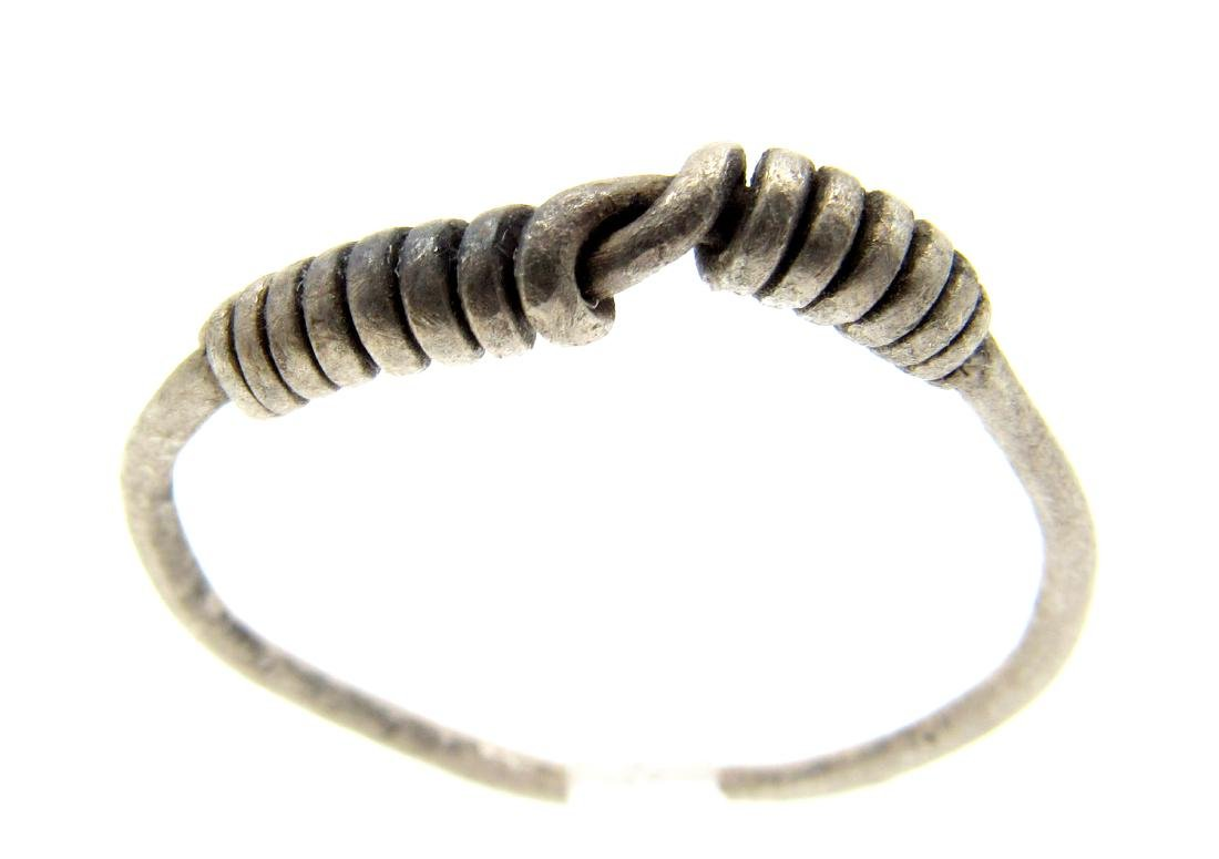 """Silver VIKING """"KNOT"""" TWISTED RING"""