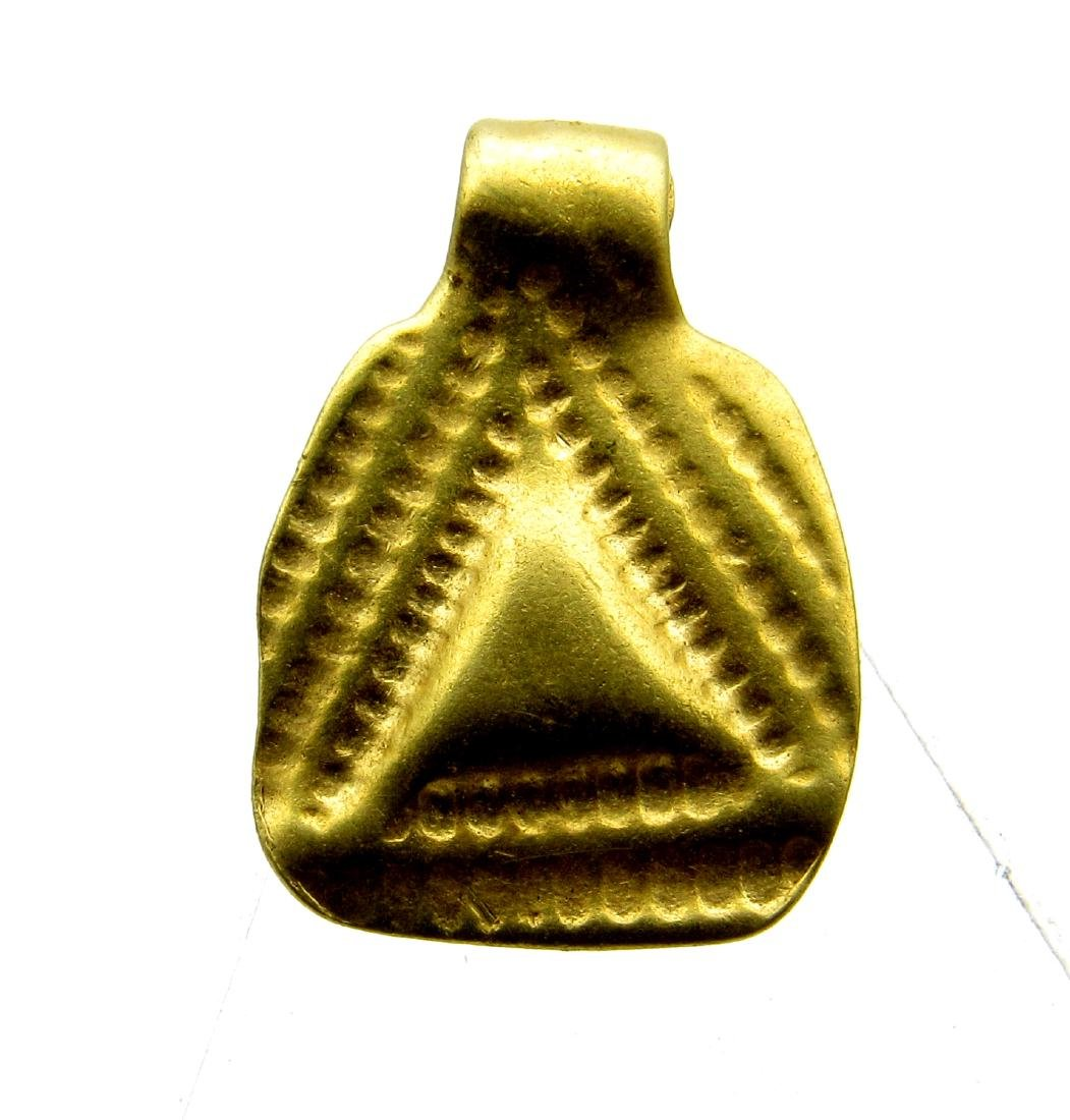 Viking Gold Pendat with Triangle Decoration