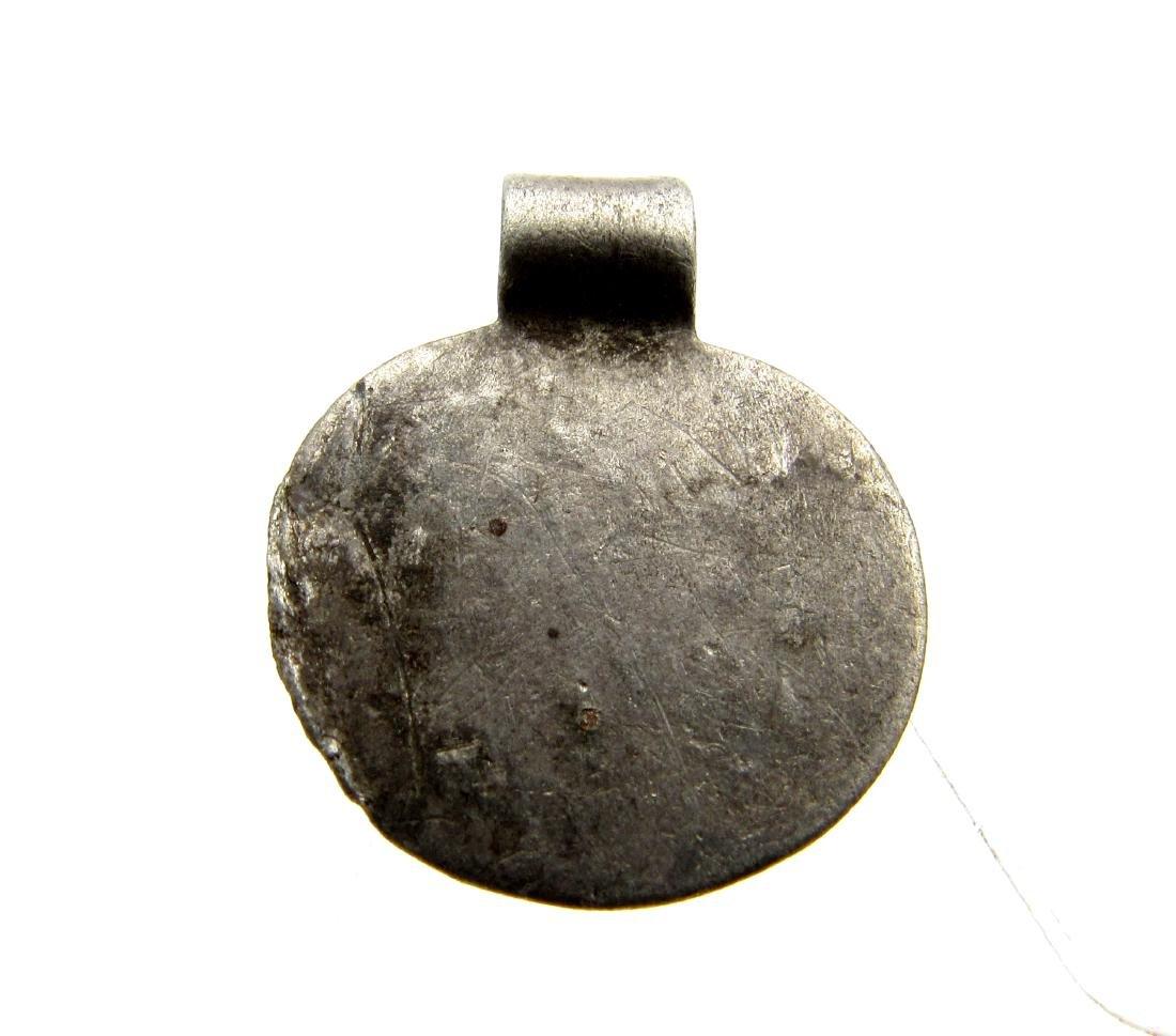 Viking Silver Noble Man Pendant - 3