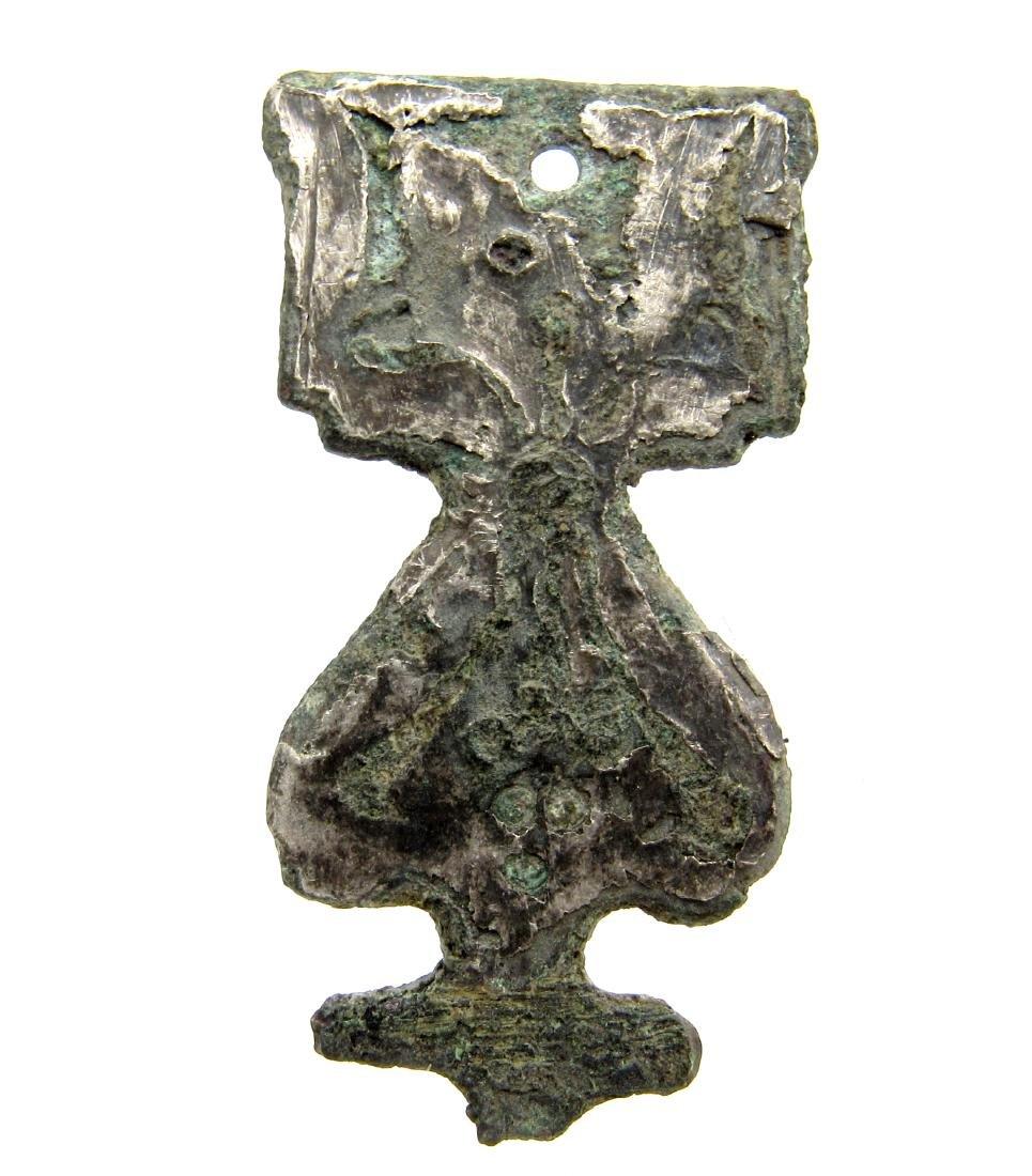 Medieval Silver niello decorated pendant