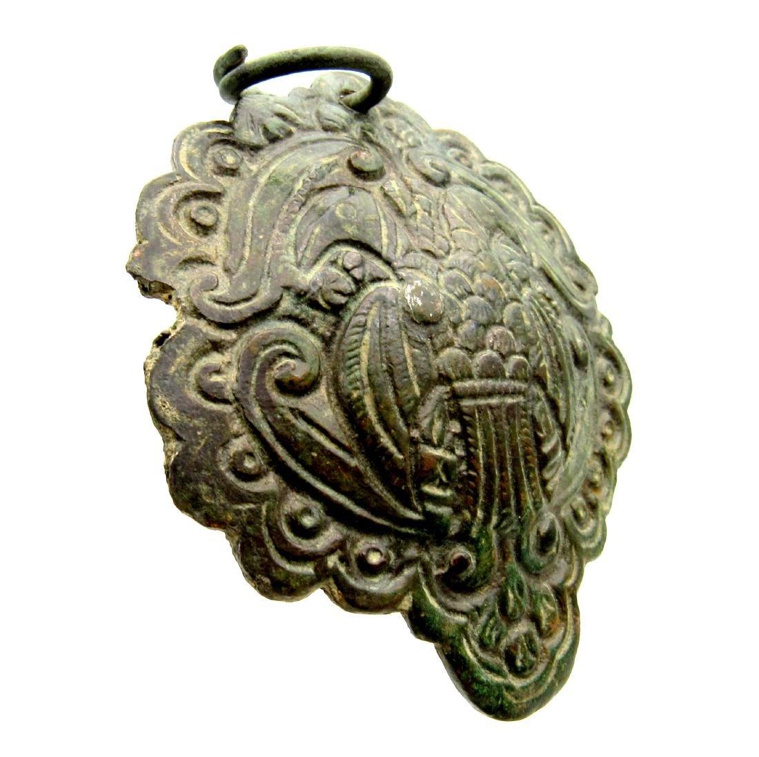 Viking Era Pendant with Double-Headed Eagle - 2