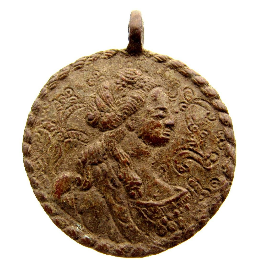 Post Medieval Religious Medallion with Mother Mary and - 3