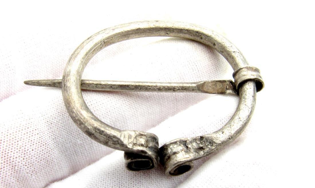 Viking Silver Omega Brooch - 2