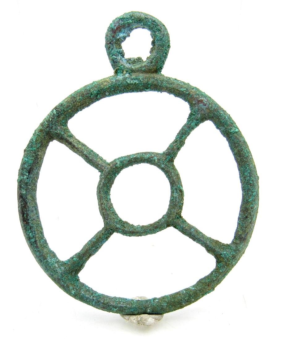 Roman Wheel of Fortune Pendant - 3