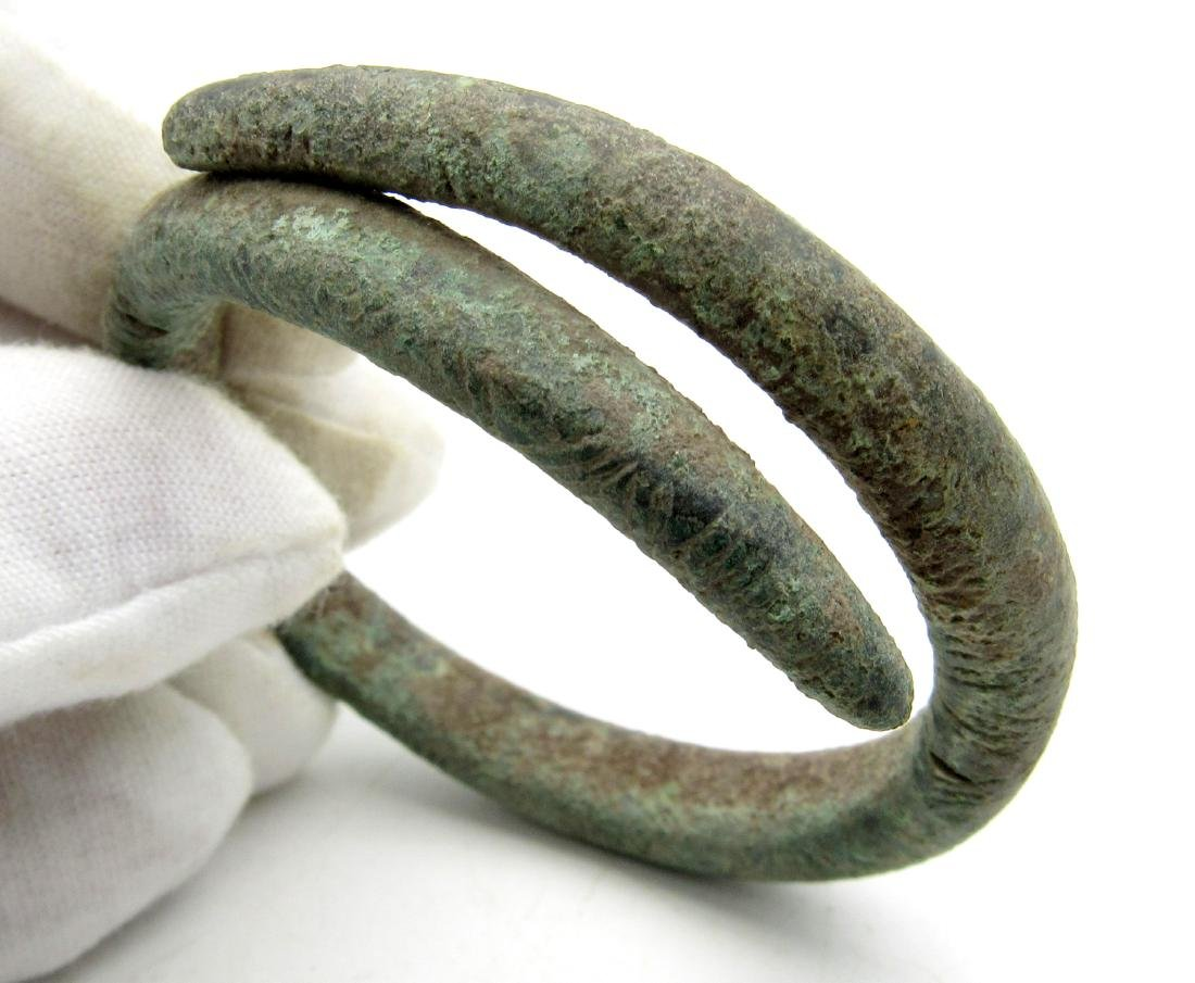 Celtic Bronze Age Coiled Decorated Bracelet - 2
