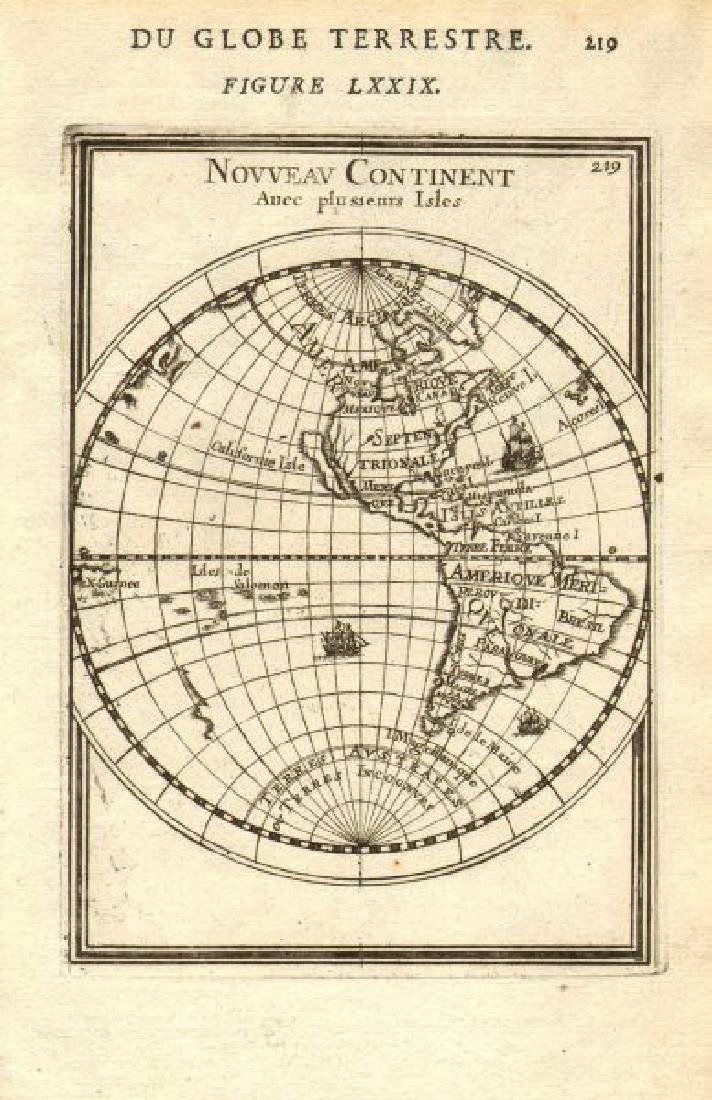 Mallet: Antique Map of the Americas, 1683