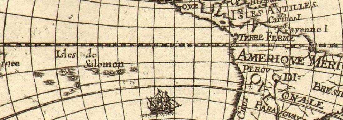 Mallet: Antique Map of the Americas, 1683 - 2