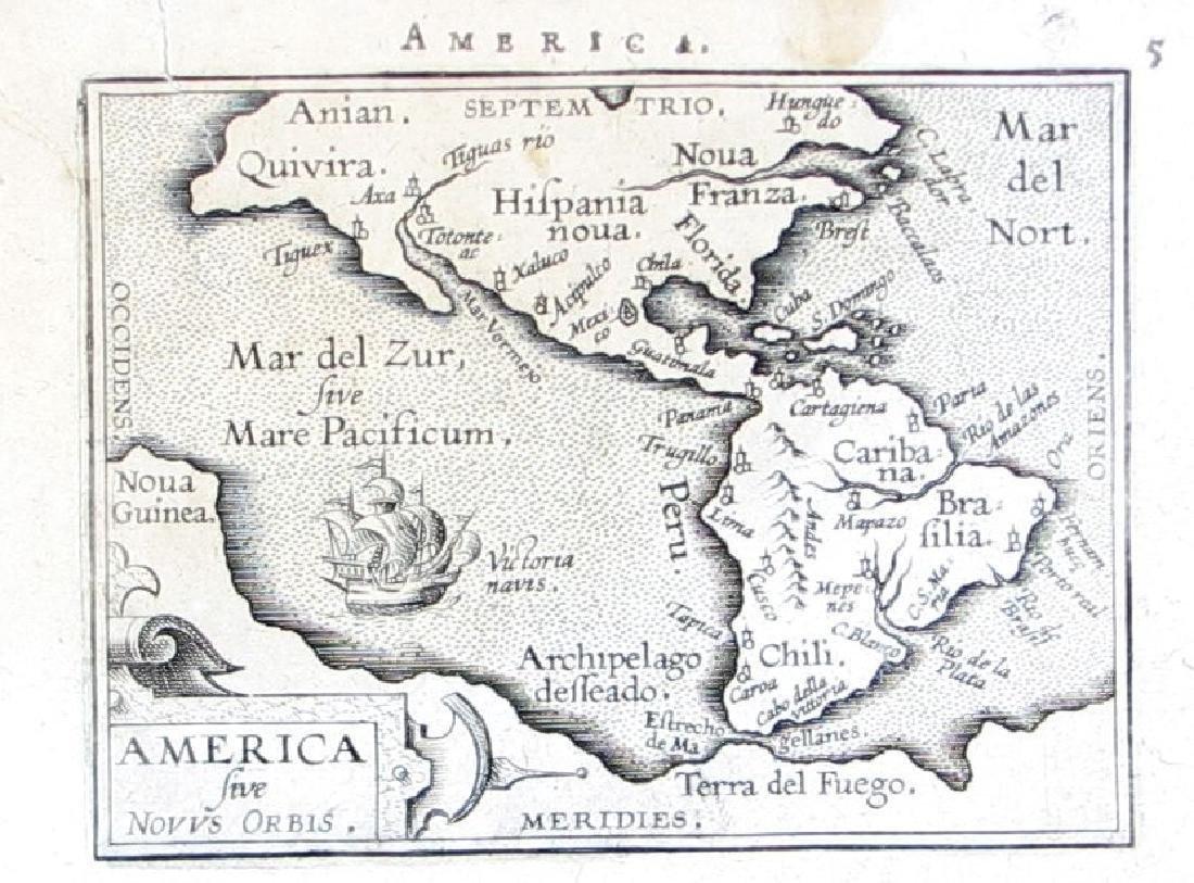 Ortelius: Antique Map of North & South America, 1598